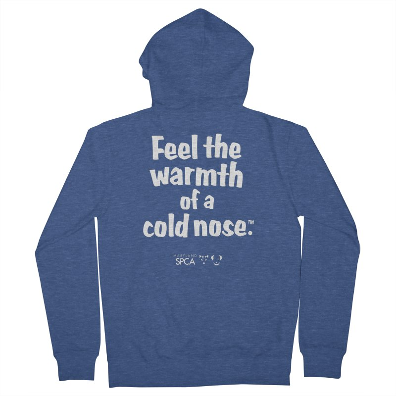 Feel the Warmth - MD SPCA Design Men's French Terry Zip-Up Hoody by Maryland SPCA's Artist Shop