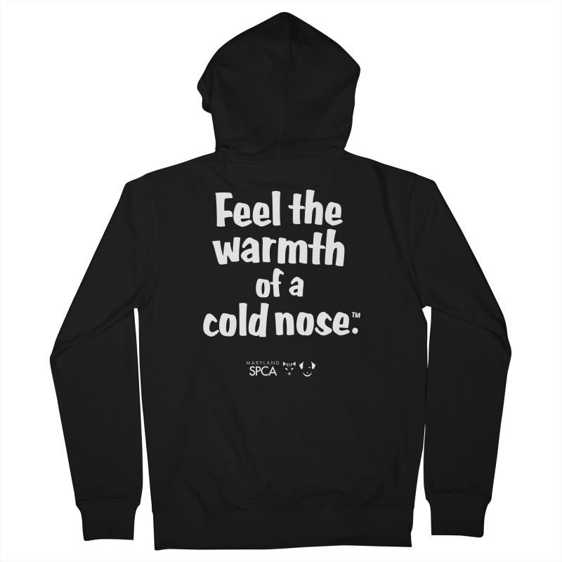 Feel the Warmth - MD SPCA Design Men's French Terry Zip-Up Hoody by marylandspca's Artist Shop