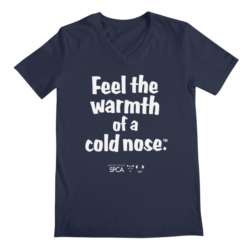 Feel the Warmth - MD SPCA Design Men's Regular V-Neck by Maryland SPCA's Artist Shop