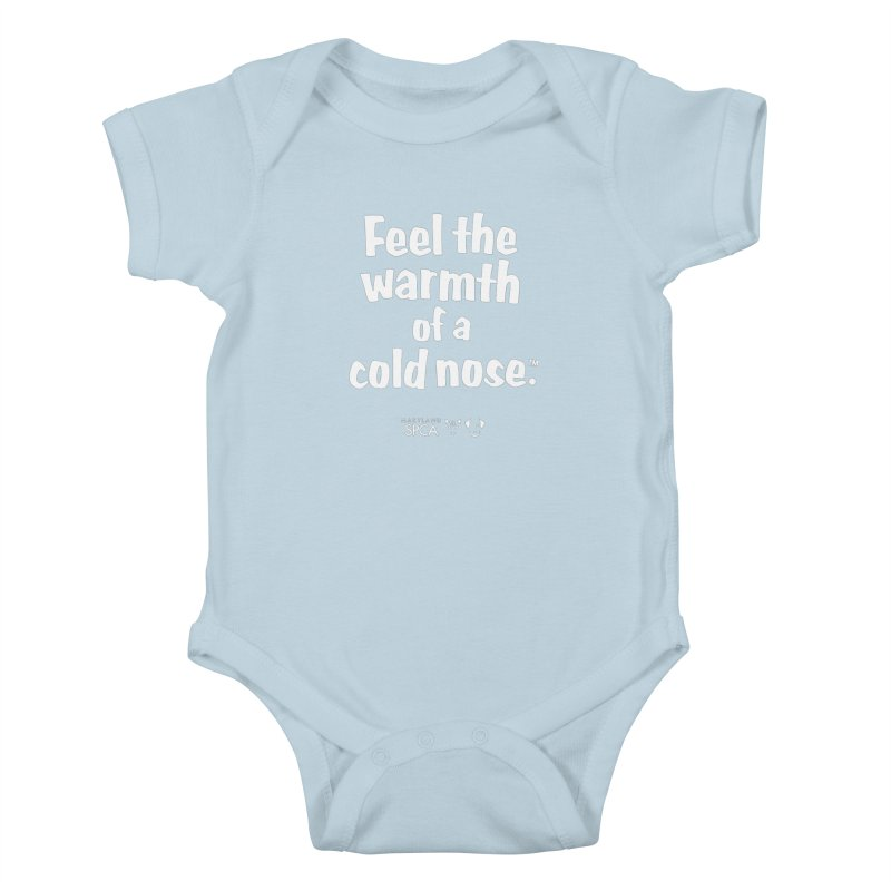 Feel the Warmth - MD SPCA Design Kids Baby Bodysuit by Maryland SPCA's Artist Shop