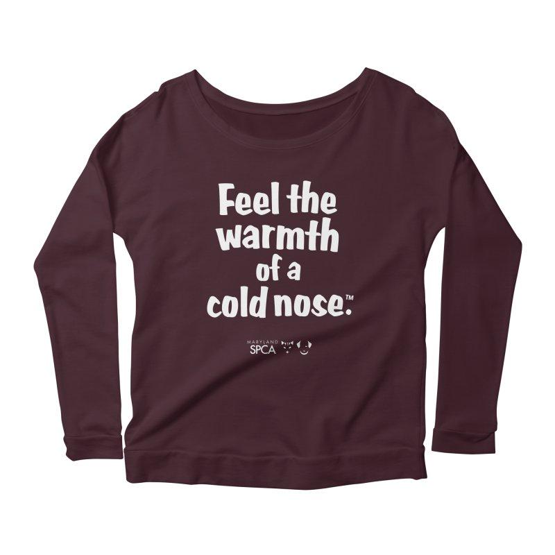 Feel the Warmth - MD SPCA Design Women's Scoop Neck Longsleeve T-Shirt by Maryland SPCA's Artist Shop