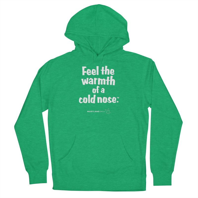 Feel the Warmth - MD SPCA Design Women's French Terry Pullover Hoody by Maryland SPCA's Artist Shop