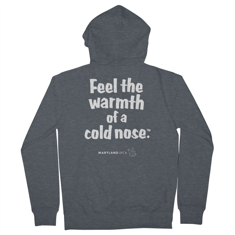 Feel the Warmth - MD SPCA Design Men's Zip-Up Hoody by Maryland SPCA's Artist Shop