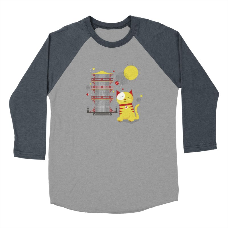 Pawgoda by Richard Kercz Women's Baseball Triblend Longsleeve T-Shirt by Maryland SPCA's Artist Shop