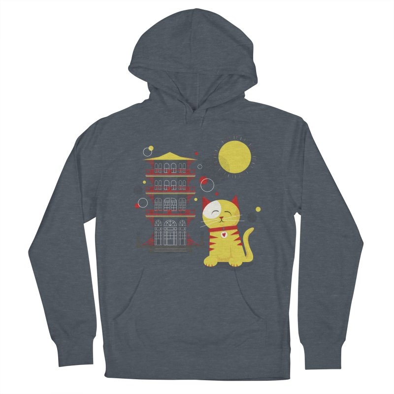 Pawgoda by Richard Kercz Men's French Terry Pullover Hoody by Maryland SPCA's Artist Shop