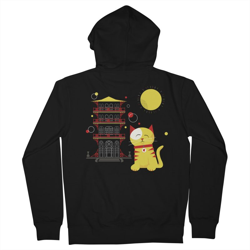 Pawgoda by Richard Kercz Men's Zip-Up Hoody by Maryland SPCA's Artist Shop