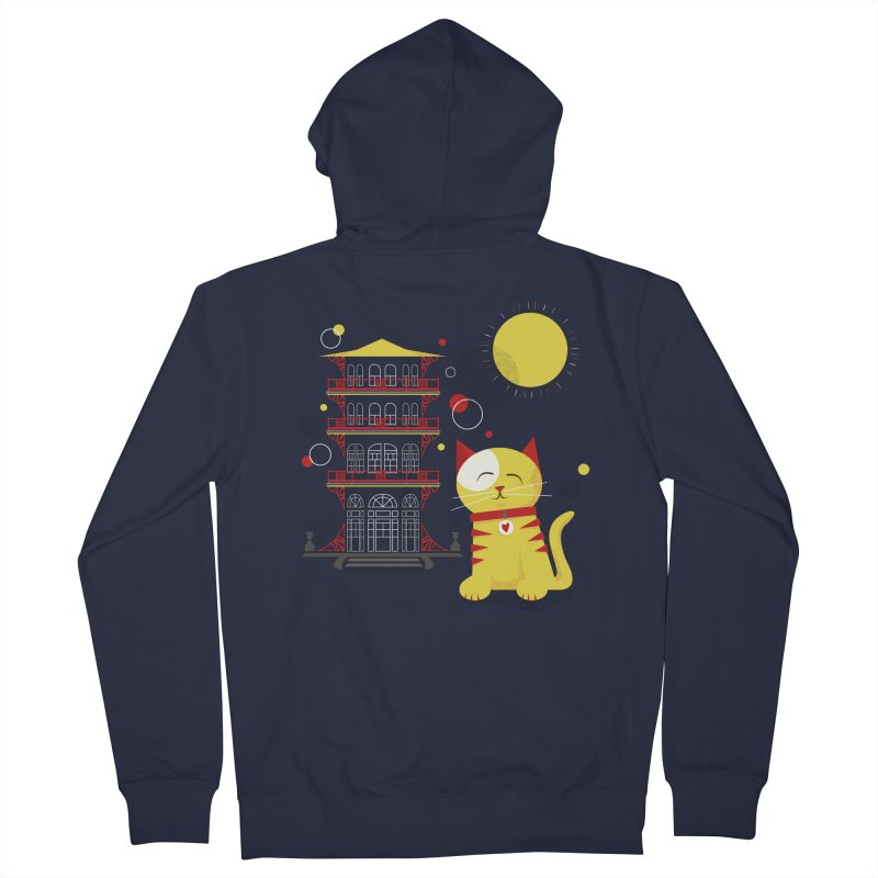 Pawgoda by Richard Kercz Men's French Terry Zip-Up Hoody by Maryland SPCA's Artist Shop