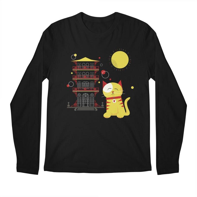 Pawgoda by Richard Kercz Men's Regular Longsleeve T-Shirt by Maryland SPCA's Artist Shop