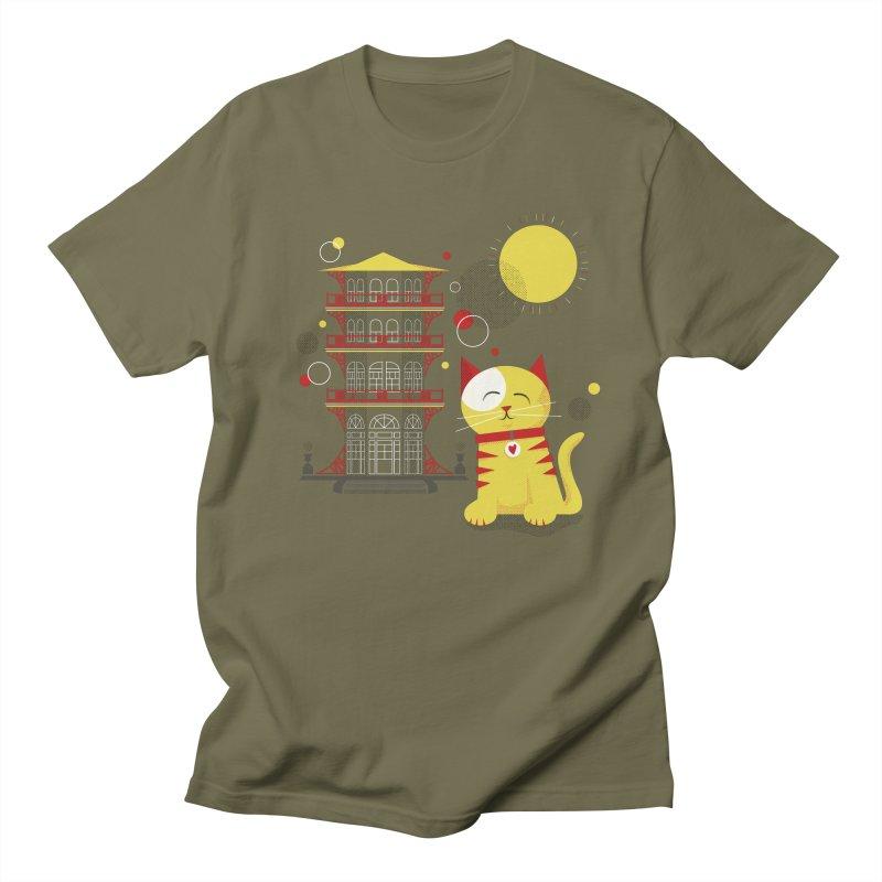 Pawgoda by Richard Kercz Men's Regular T-Shirt by Maryland SPCA's Artist Shop