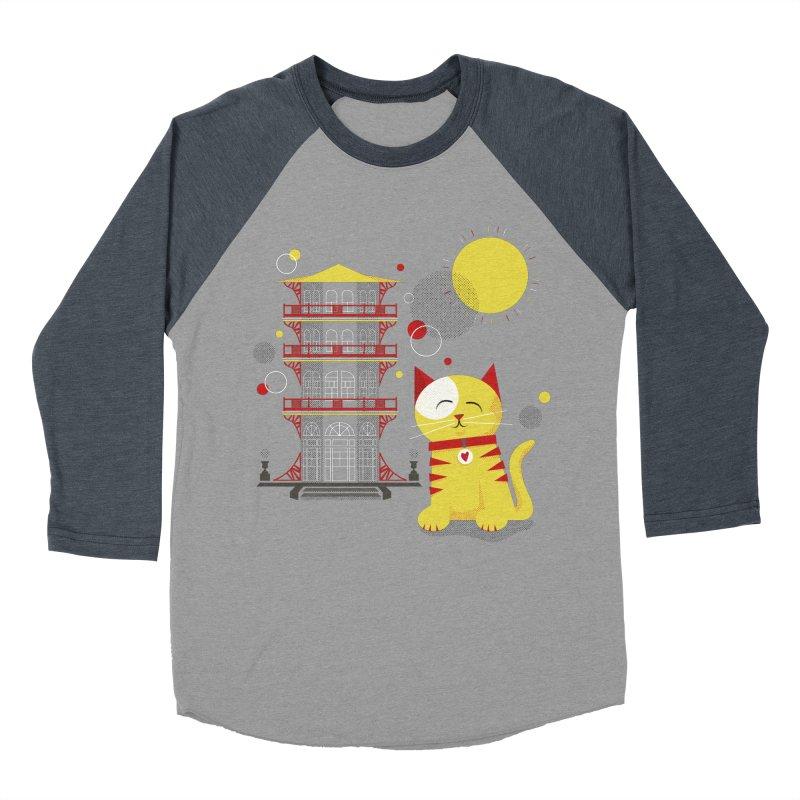 Pawgoda by Richard Kercz Women's Baseball Triblend Longsleeve T-Shirt by Maryland SPCA's Artist Shop