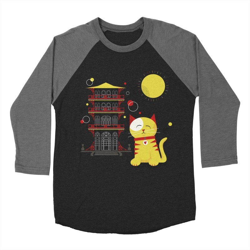 Pawgoda by Richard Kercz Men's Baseball Triblend Longsleeve T-Shirt by Maryland SPCA's Artist Shop