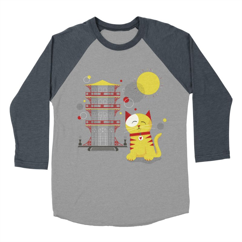 Pawgoda by Richard Kercz Men's Baseball Triblend Longsleeve T-Shirt by Maryland SPCA's Artist Shop