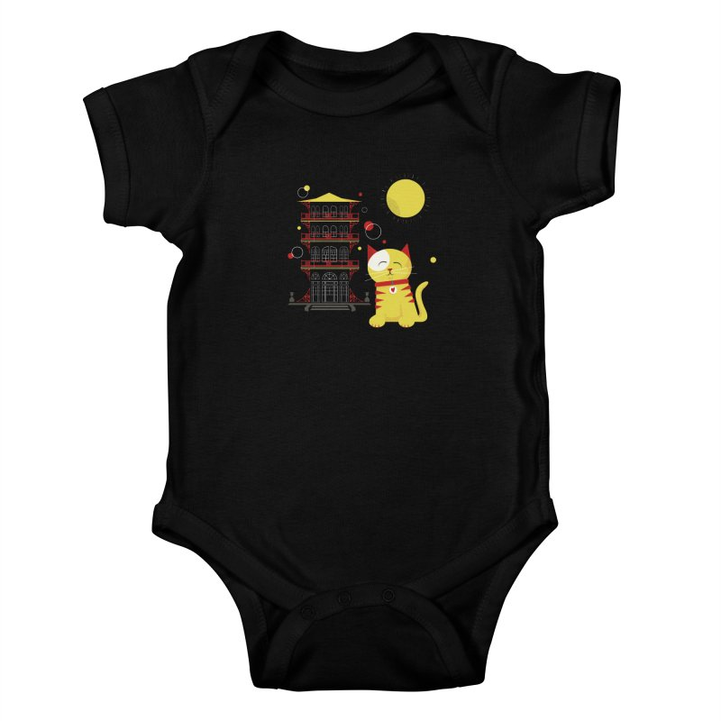 Pawgoda by Richard Kercz Kids Baby Bodysuit by Maryland SPCA's Artist Shop
