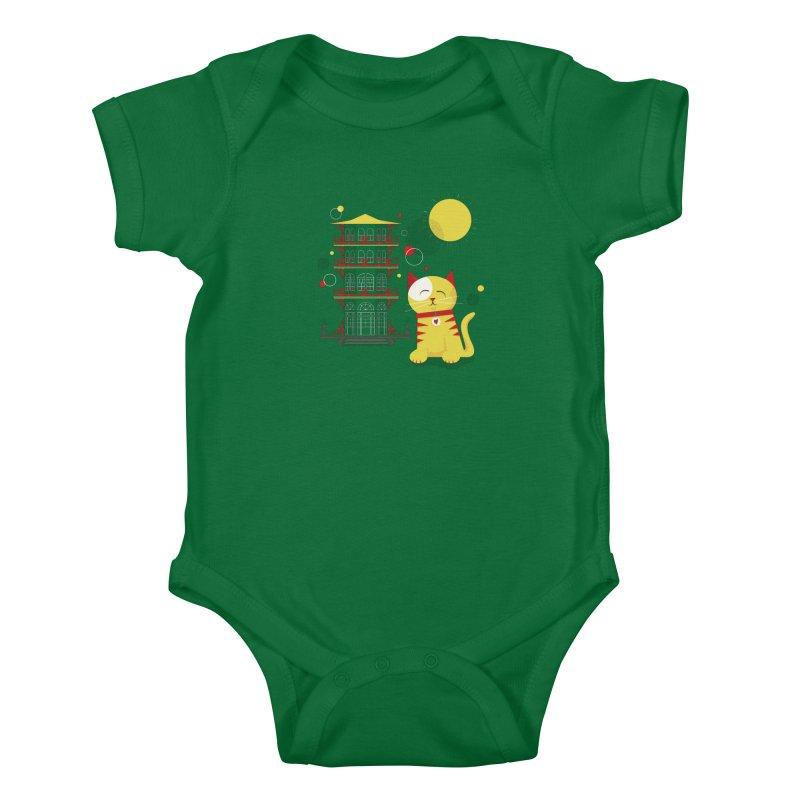 Pawgoda by Richard Kercz Kids Baby Bodysuit by marylandspca's Artist Shop