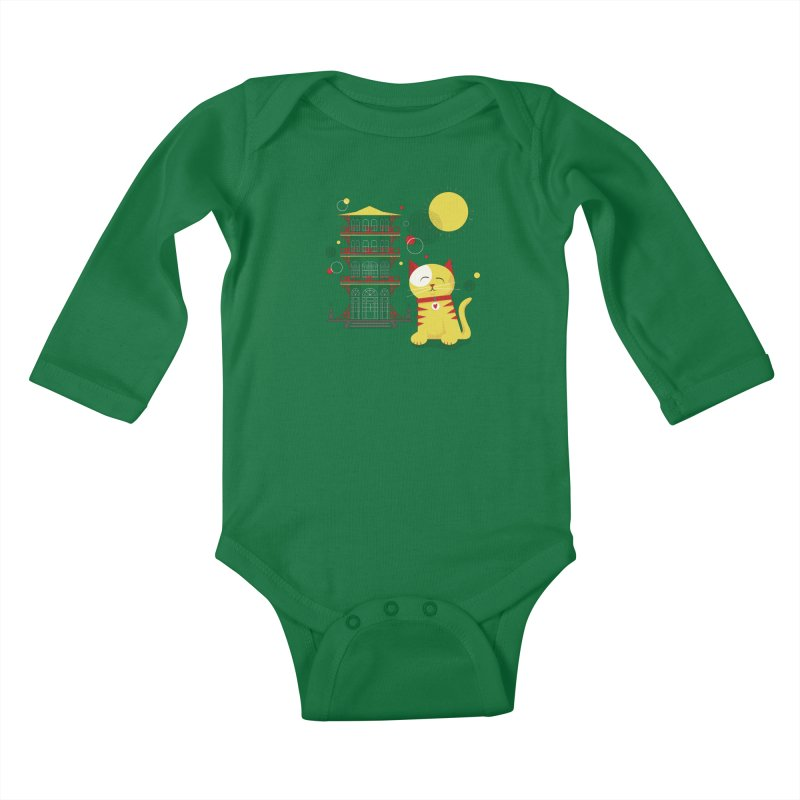 Pawgoda by Richard Kercz Kids Baby Longsleeve Bodysuit by Maryland SPCA's Artist Shop