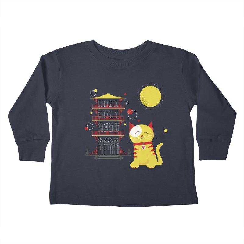 Pawgoda by Richard Kercz Kids Toddler Longsleeve T-Shirt by Maryland SPCA's Artist Shop