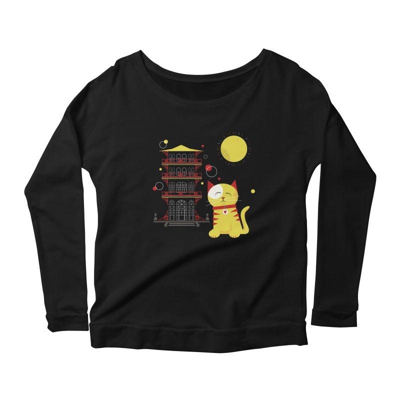 Pawgoda by Richard Kercz Women's Scoop Neck Longsleeve T-Shirt by Maryland SPCA's Artist Shop