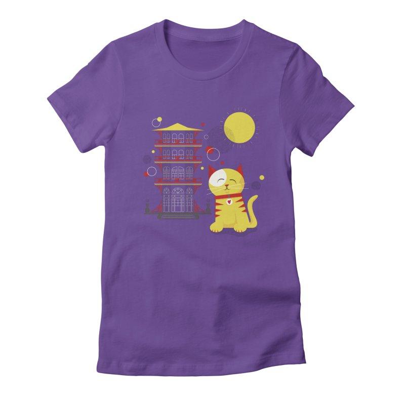 Pawgoda by Richard Kercz Women's Fitted T-Shirt by Maryland SPCA's Artist Shop