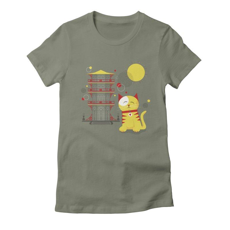 Pawgoda by Richard Kercz Women's Fitted T-Shirt by marylandspca's Artist Shop
