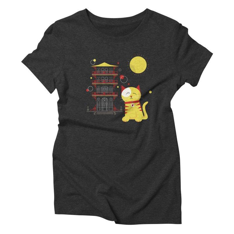 Pawgoda by Richard Kercz Women's Triblend T-Shirt by marylandspca's Artist Shop