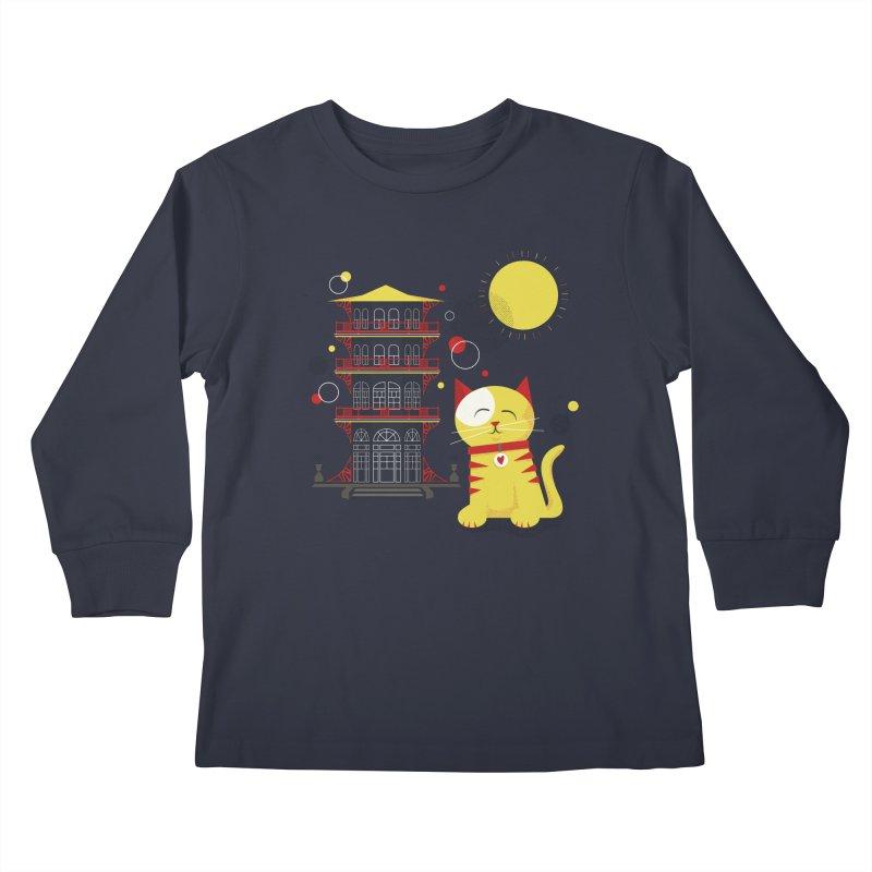 Pawgoda by Richard Kercz Kids Longsleeve T-Shirt by Maryland SPCA's Artist Shop