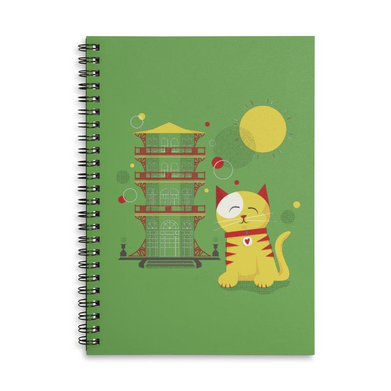 Pawgoda by Richard Kercz Accessories Lined Spiral Notebook by Maryland SPCA's Artist Shop