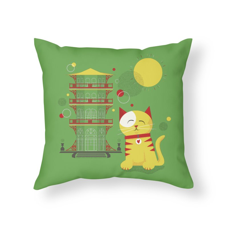 Pawgoda by Richard Kercz in Throw Pillow by Maryland SPCA's Artist Shop