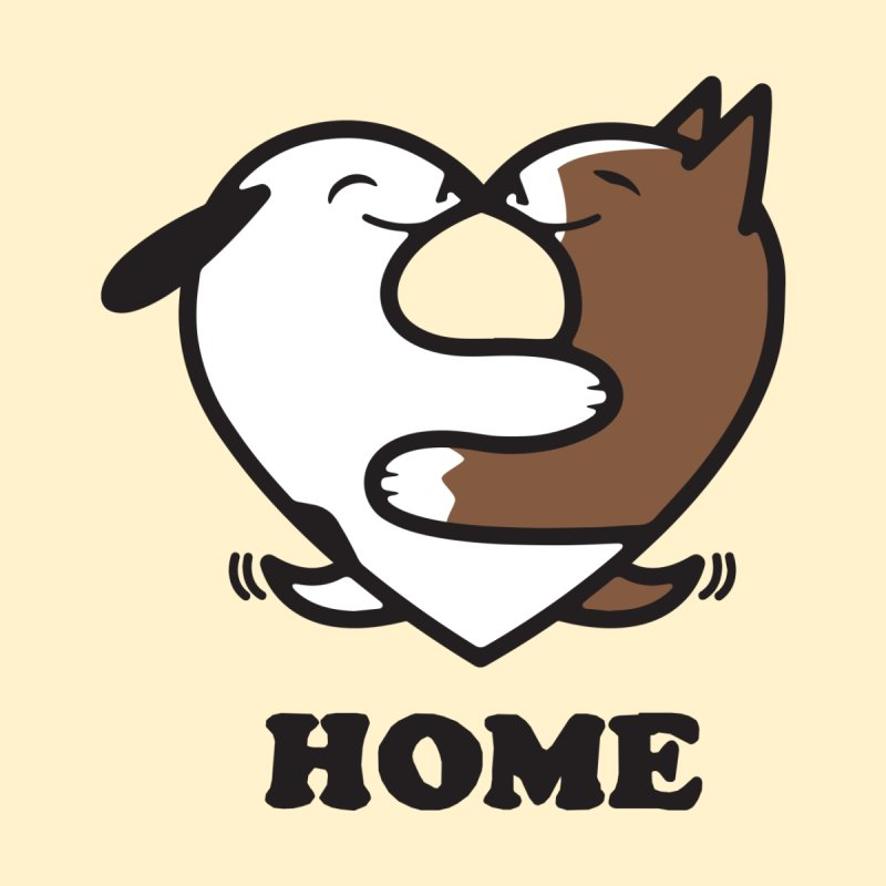 Home by Mark Kubat Women's Sweatshirt by Maryland SPCA's Artist Shop