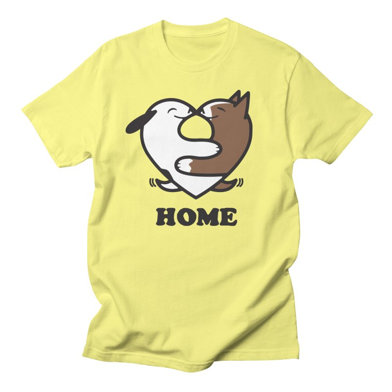 Home by Mark Kubat Men's T-Shirt by Maryland SPCA's Artist Shop