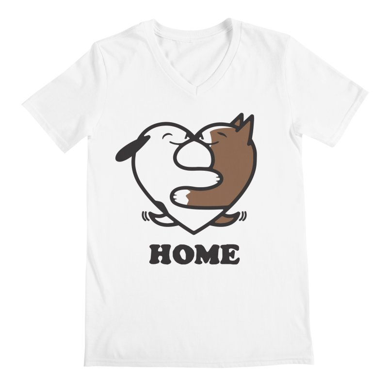Home by Mark Kubat Men's V-Neck by Maryland SPCA's Artist Shop