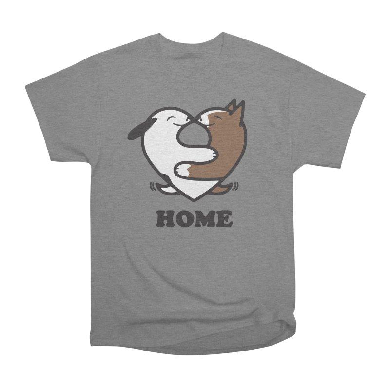 Home by Mark Kubat Women's Heavyweight Unisex T-Shirt by Maryland SPCA's Artist Shop
