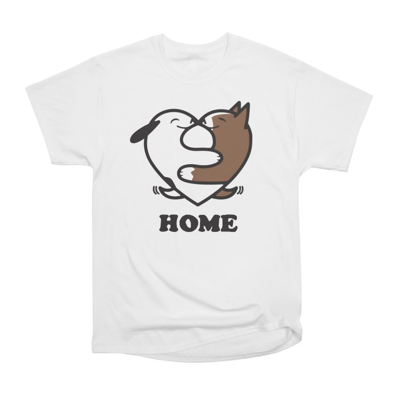 Home by Mark Kubat Women's Heavyweight Unisex T-Shirt by Maryland SPCA's Artist Shop