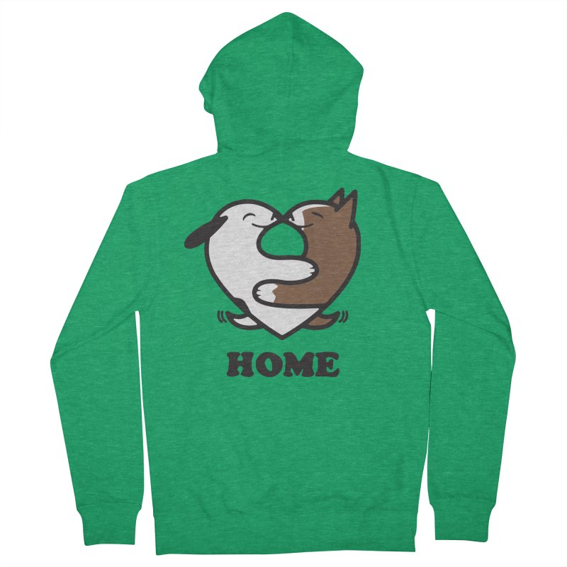 Home by Mark Kubat Men's French Terry Zip-Up Hoody by Maryland SPCA's Artist Shop