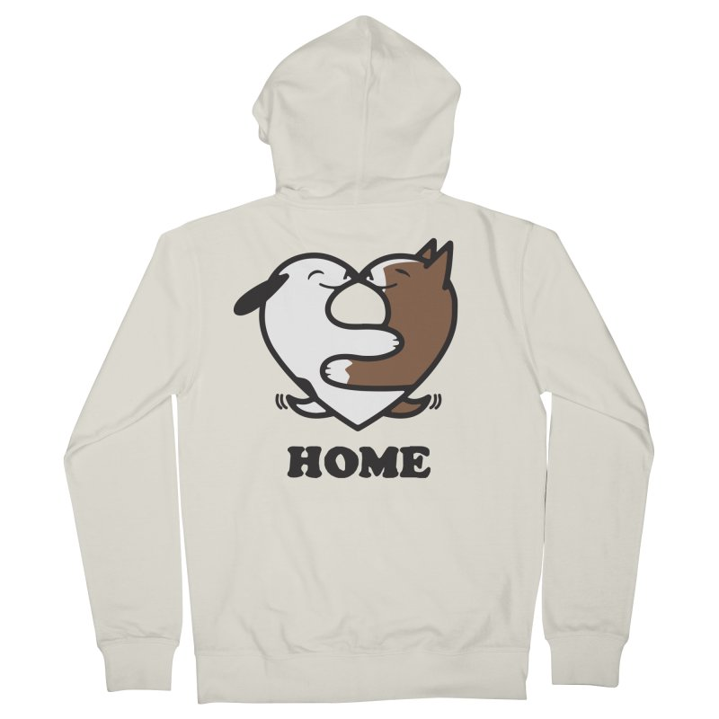 Home by Mark Kubat Men's French Terry Zip-Up Hoody by marylandspca's Artist Shop