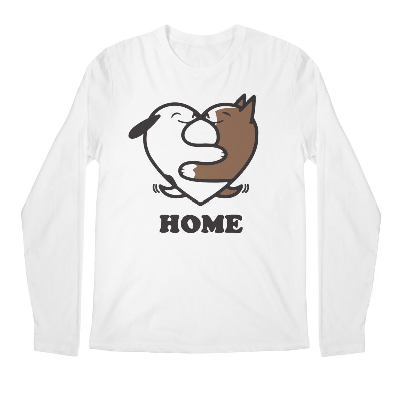 Home by Mark Kubat Men's Regular Longsleeve T-Shirt by Maryland SPCA's Artist Shop