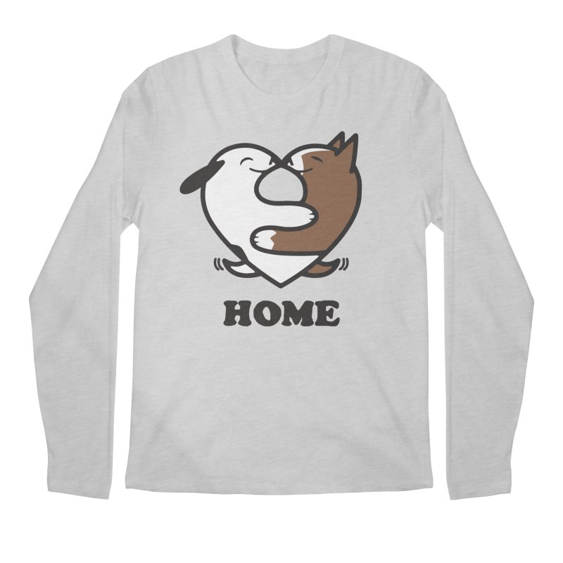 Home by Mark Kubat Men's Longsleeve T-Shirt by Maryland SPCA's Artist Shop