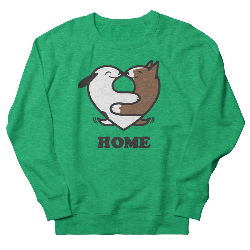 Home by Mark Kubat Women's French Terry Sweatshirt by Maryland SPCA's Artist Shop
