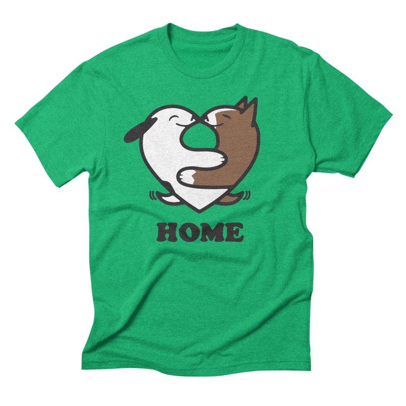 Home by Mark Kubat Men's Triblend T-Shirt by Maryland SPCA's Artist Shop