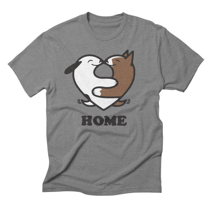Home by Mark Kubat Men's Triblend T-Shirt by Maryland SPCA's Artist Shop