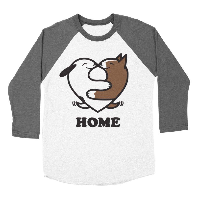 Home by Mark Kubat Men's Baseball Triblend Longsleeve T-Shirt by Maryland SPCA's Artist Shop