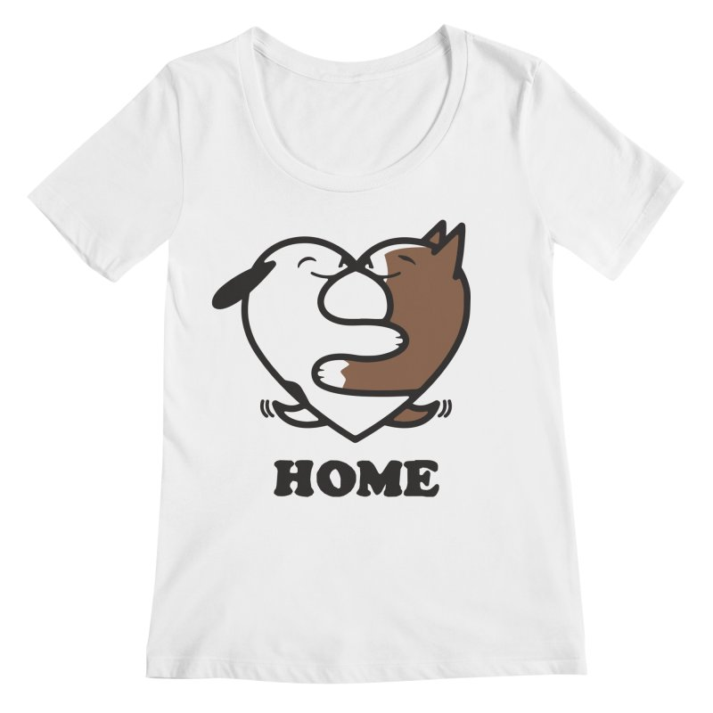 Home by Mark Kubat Women's Regular Scoop Neck by Maryland SPCA's Artist Shop