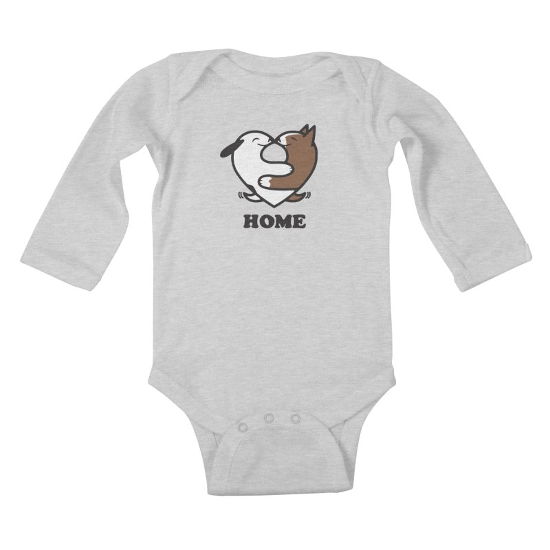 Home by Mark Kubat Kids Baby Longsleeve Bodysuit by Maryland SPCA's Artist Shop