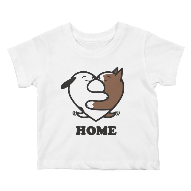 Home by Mark Kubat Kids Baby T-Shirt by Maryland SPCA's Artist Shop