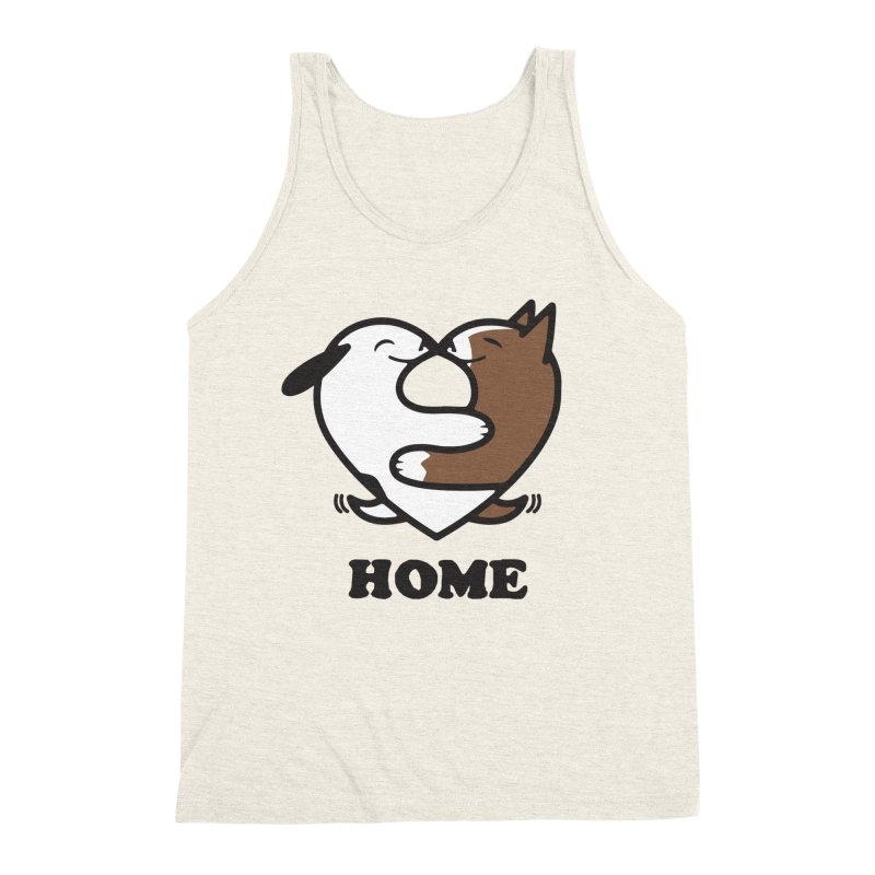 Home by Mark Kubat Men's Triblend Tank by Maryland SPCA's Artist Shop