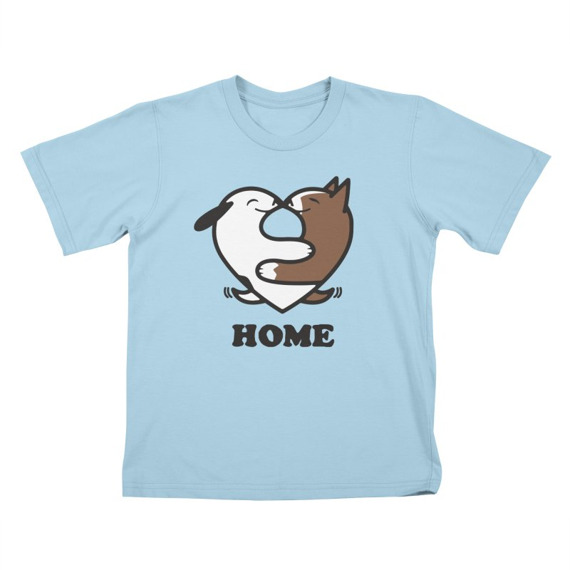 Home by Mark Kubat Kids T-Shirt by Maryland SPCA's Artist Shop
