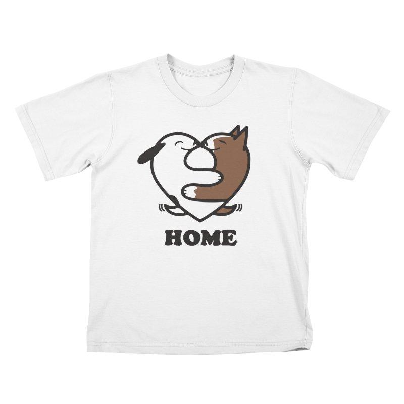 Home by Mark Kubat Kids T-Shirt by Maryland SPCA's Artist Shop