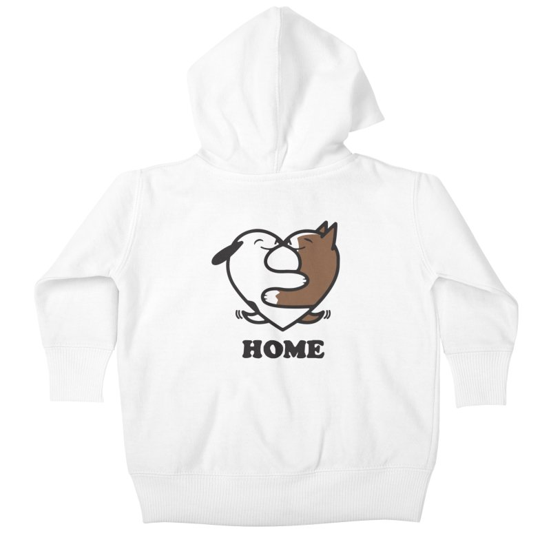 Home by Mark Kubat Kids Baby Zip-Up Hoody by Maryland SPCA's Artist Shop
