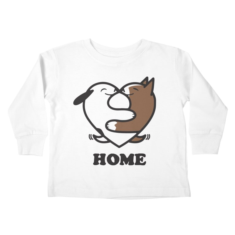 Home by Mark Kubat Kids Toddler Longsleeve T-Shirt by marylandspca's Artist Shop