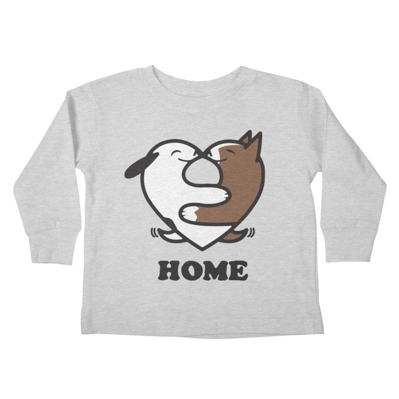Home by Mark Kubat Kids Toddler Longsleeve T-Shirt by Maryland SPCA's Artist Shop