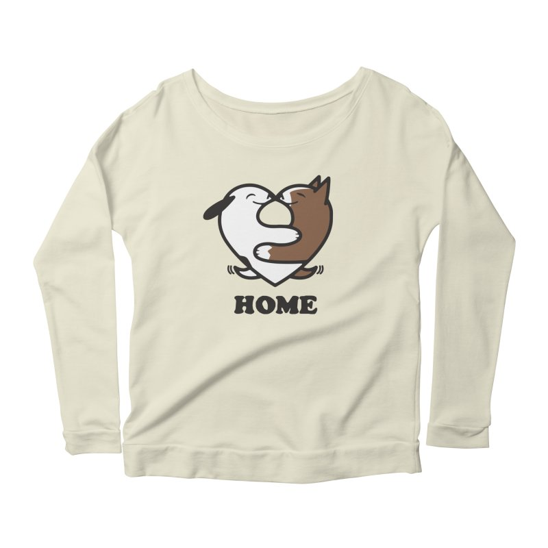 Home by Mark Kubat Women's Scoop Neck Longsleeve T-Shirt by Maryland SPCA's Artist Shop